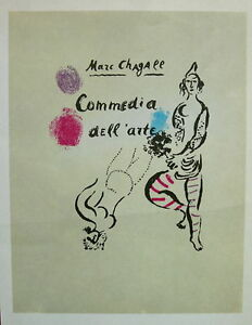 MARC-CHAGALL-1966-Commedia-dell-039-arte-litho-Tempo-Graphics-Mourlot-12-Signed