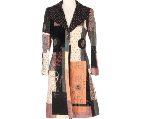 ETRO Patchwork Trench Coat - Size Small