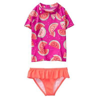 NWT Gymboree Girls Rash Guard Set Swimsuit Kid Girl Beach UPF 50 2pc