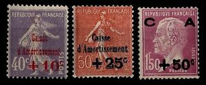 Caisse d'Amortiss.t, Series 2, New = Side 235 € / Stamps France n°249 à 251