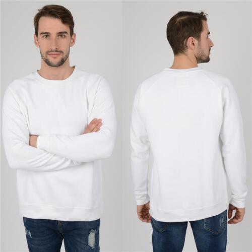 Mens Raglan Sweatshirt Better Quality New Jumpers Tops Work Sweater Jersey UK