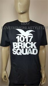 c5280d985 Brick Squad Black T-Shirt Tee Gucci Mane 1017 New Rap Tour T Shirt ...