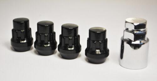de 19mm Hexagonal De Aleación De Tuercas De Rueda incluidas taquillas Negro Set De 20 X M12 X 1,5