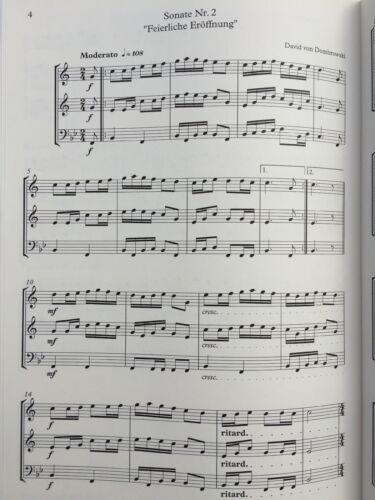 Musiknoten Festliche Bläsermusik-5 Trios für 2 Trompeten und Tuba