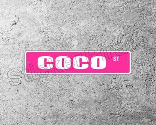 "*Aluminum* Coco 4/"" x 18/"" Metal Novelty Street Sign  SS 935"