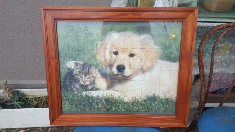 puzzle of pets in frame