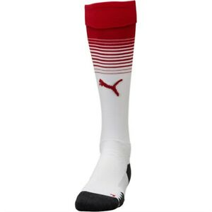 Details about ARSENAL FOOTBALL SOCKS HOME RED & WHITE STRIPED PUMA ADULTS  9-11 UK 43-46 EU