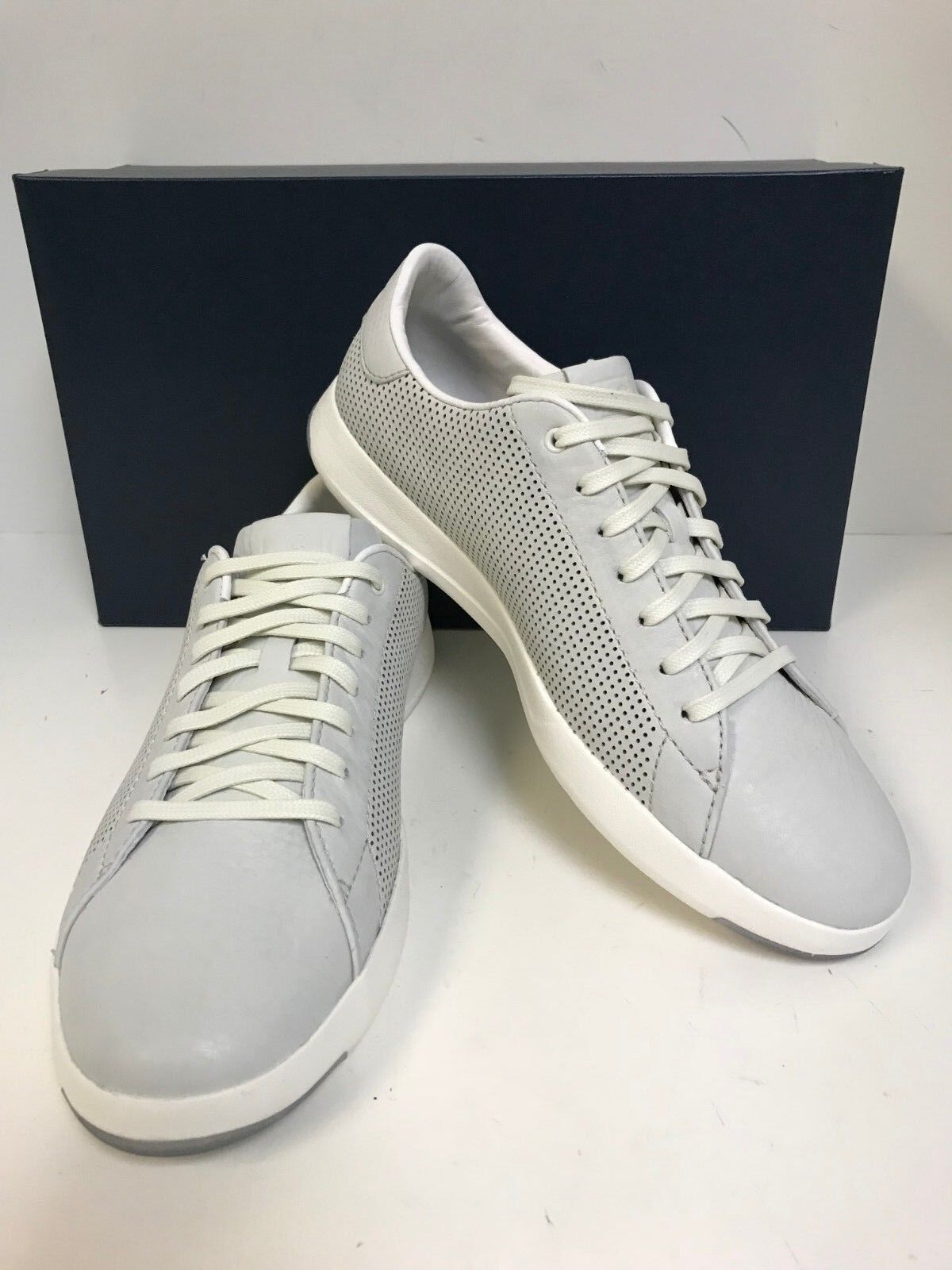 Cole Haan Men's Grandpro Tennis Chalk Tumbled Leather Laceup Casual Sneakers