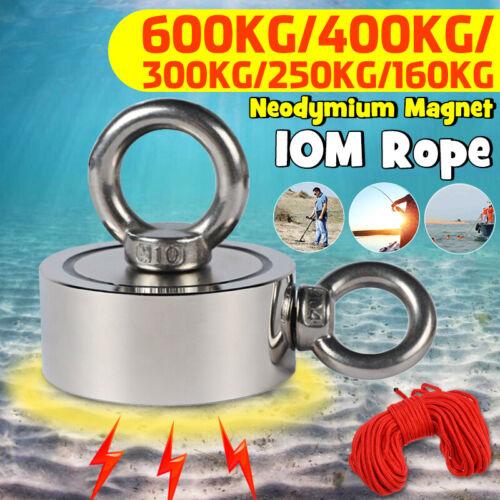 160//250//300//400//600KG D48-94mm Strong Neodymium Magnet Metal Detector   !