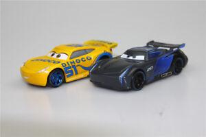 Mattel-Disney-Pixar-Cars-3-Cruz-Ramirez-amp-Jackson-Storm-Coche-de-juguete-Diecast-1-55
