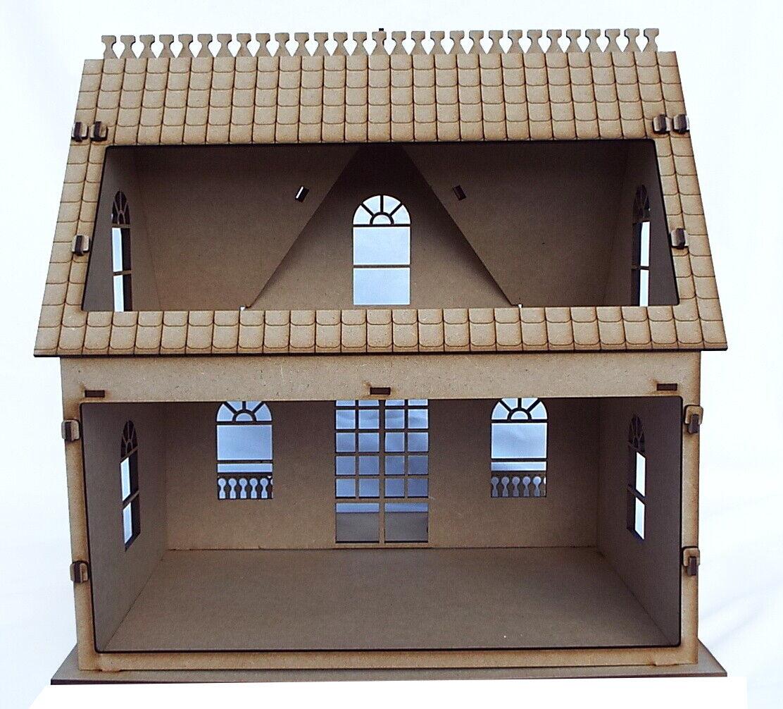 Dolls Dolls Dolls House wooden Dollhouse Kit laser cut flat packed diy project AS1 a95f38