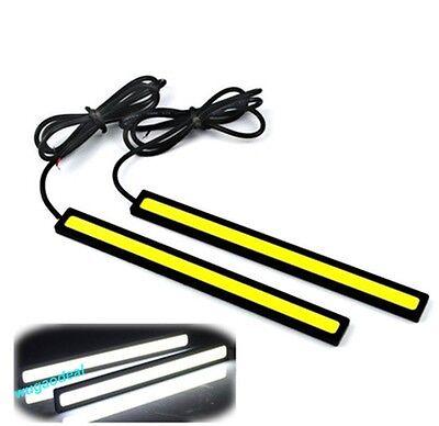 LED COB Car Auto DRL Driving Daytime Running Lamp Fog Light White 17cm 2pcs/set