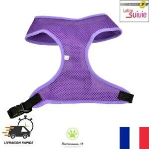 Harnais-Souple-Respirant-Violet-Chien-Chiot-et-Chat-Taille-XS-S-M-L-XL-Neuf-FR