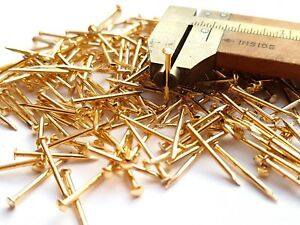 1000pcs-18-x-1-2-034-Escutcheon-Pins-Nails-Brass-Plated-Golden-1-2-x-13mm