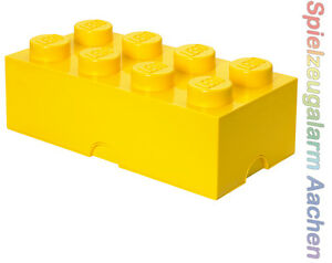 LEGO Storage Brick 8 GELB yellow Stein 2x4 Aufbewahrung Dose XXL Box Kiste
