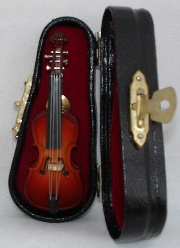 "Cello replica handmade collectible miniature tie tag Pin 2.75/"" with black case"