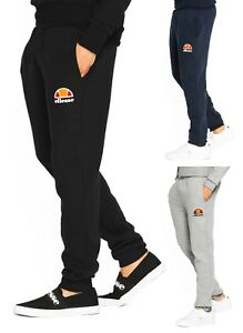 Details about ellesse Mens Run Jogging Bottoms Polyester Track Pants Trousers Navy Blue