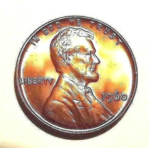 """1960 P/""""KEY DATE/'Lincoln Memorial 1c Sm Date CHOICE BU//RD from uncirculated roll."""