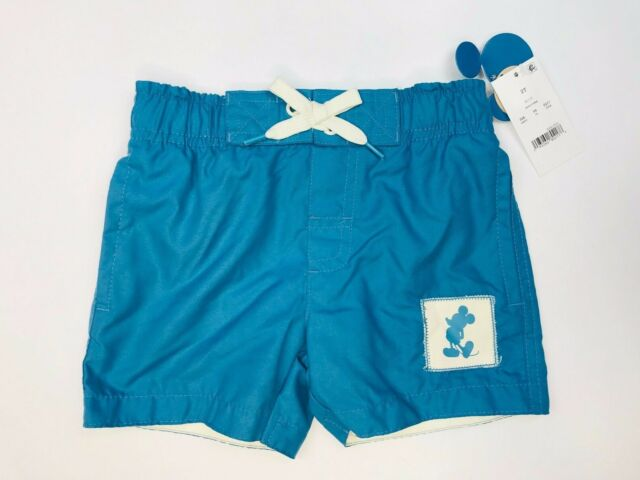 688aae21b5 Junk Food Toddler Boys' Disney Mickey Mouse Swim Trunks Shorts -Blue Size  -2T