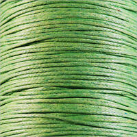 Waxed Cotton Cord 0,8mm – 5m Anise Green for Necklaces and Bracelets pearl