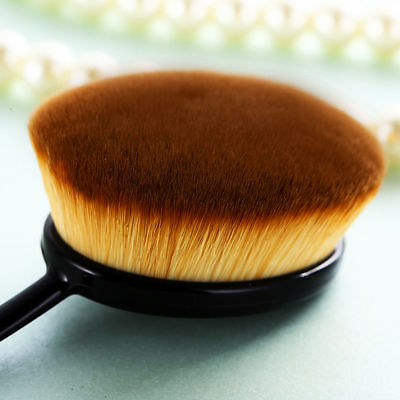 New Big Toothbrush Shaped Foundation Powder Makeup Oval Cream Puff Brushes