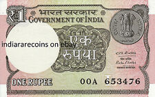 INDIA One Rupee L Inset Rare 00A Prefix 2016 Ashoka Watermark Bank Note UNC NEW