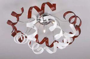 Lampadari Plafoniere Rosse : Spencer plafoniera moderna struttura cromo con eliche bianche e