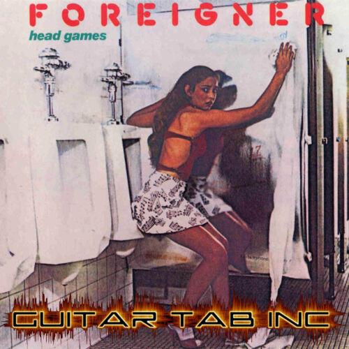 Foreigner Digital Guitar Tab HEAD GAMES Lessons on Disc Mick Jones