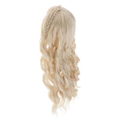 Haar lockige Perücke Haarteil für 1 3 BJD Puppe Making \u0026 Repair