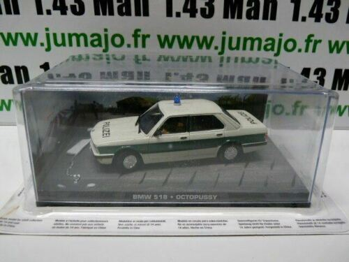 JB66H voiture 1//43 IXO 007 JAMES BOND BMW 518 Octopussy Police