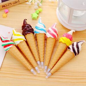 Ice-Cream-Cute-Ballpoint-Pen-Gel-Pen-Student-Office-Stationery-Gift-DSUK