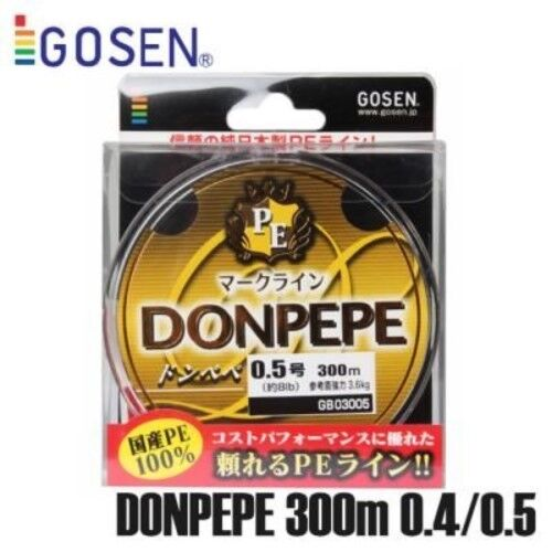 GOSEN-DONPEPE 4 Braid PE Fishing Line 300M #0.4~ #3 From Japan FishingLine
