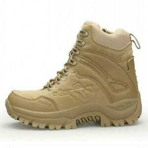 Mens-High-Top-Military-Tactical-Boots-Desert-Army-Hiking-Combat-Ankle-Boots-size