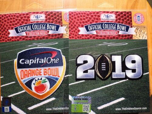 Alabama College Football Black 2019 Championship Game /& Orange Bowl Patches