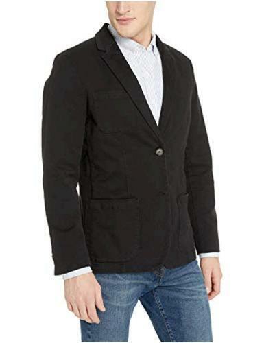 Black, Goodthreads Men/'s Slim-Fit Stretch Twill Blazer Size Medium Tall Black