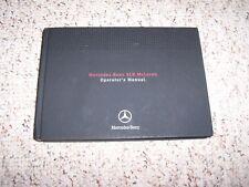 2007 Mercedes Benz SLR McLaren Unlimited Owner User Manual Guide Book