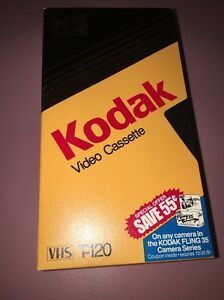 Kodak T-120 [HS High Standard] Video Cassette VHS Video Tapes Used 3 Pack