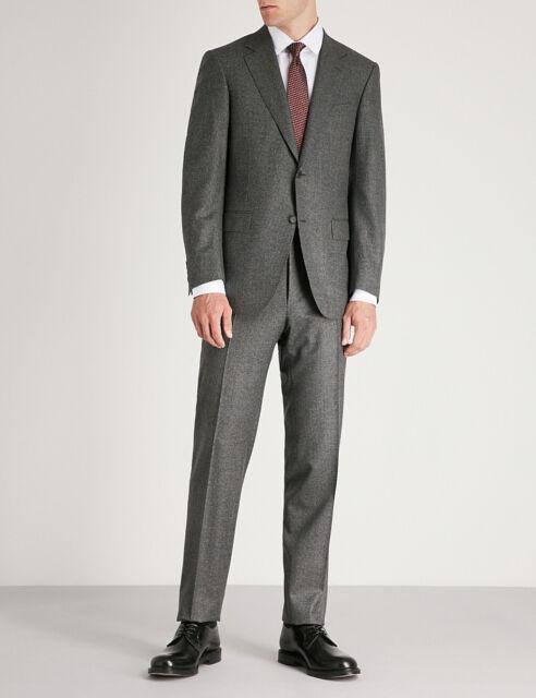 $3350 Canali Men Gray Suit Jacket Wool Trouser Pants Blazer Italy US 40S EU 50S