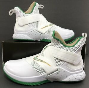 on sale 35c88 c4a01 Details about Nike LeBron Soldier 12 XII SVSM Home White Green AO2609-100  Size 12