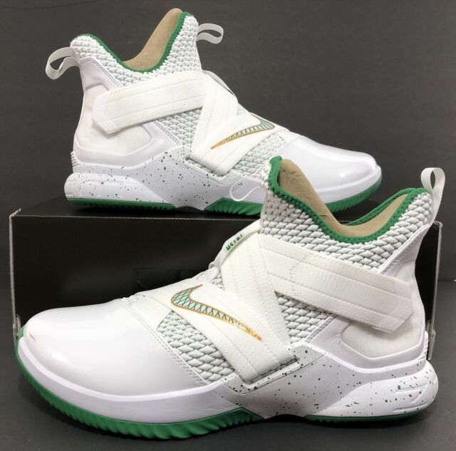 56059ca35d7f Nike Lebron Soldier XII SVSM Home White Green Ao2609-100 Mens Sz 12 ...
