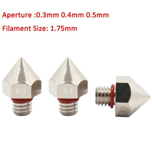 0.3mm//0.4mm//0.5mm Brass Surface Plating Nozzle 1.75mm Filament 3D Printer Part