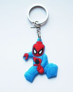 Image Is Loading Spiderman Lego Keyring Bagcharm Keychain Zip Puller Rubber