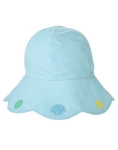 GYMBOREE MERMAID MAGIC BLUE w// SEASHELLS BRIM SUN HAT 12 24 2T 3T NWT