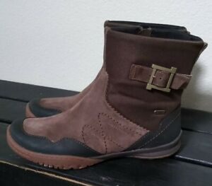 New Merrell Albany Sky Waterproof Leather Women Boots Sz 8