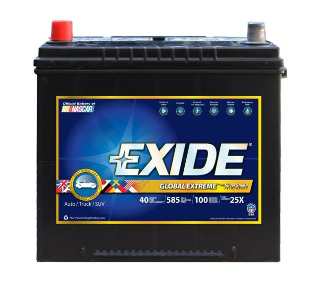 Battery Nascar And Global Extreme Cca 585 Exide 25x