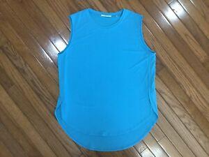 Tahari-Women-s-Teal-Tank-Sleeveless-Stretch-Top-Blouse-Size-L