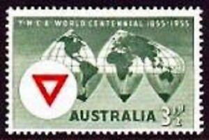 1955-AU-3-d-YMCA-Centennial-MUH-pre-decimal-stamp