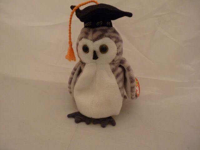 0498e4819bb Beanie Babies Baby Ty Wiser The Owl Graduate Graduation 1999 Retired ...