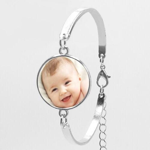 Personnalisé Custom Imprimé ronde collier pendentif Cadeau Photo