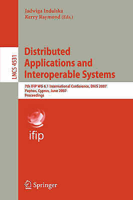 1 of 1 - Distributed Applications and Interoperable Systems: 7th IFIP WG 6.1 Internationa